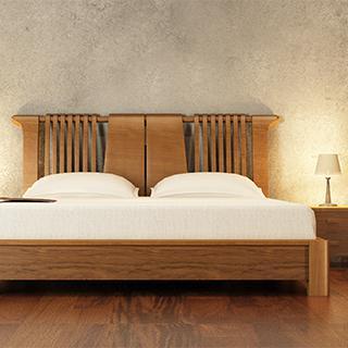 中式木质平板床 3d模型下载