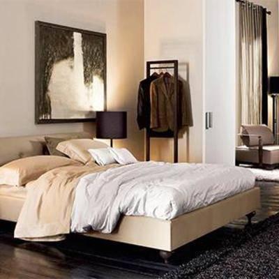 床具组合, 卧室组合, 新中式卧室, 新古典床, 卧室, 新古典卧室