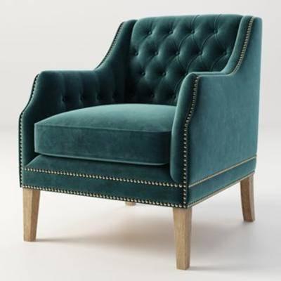 简欧, 单人沙发, 欧式, 沙发, 椅子