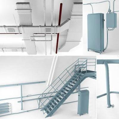 loft管道, 管道组合, 工业风管道, loft工业风