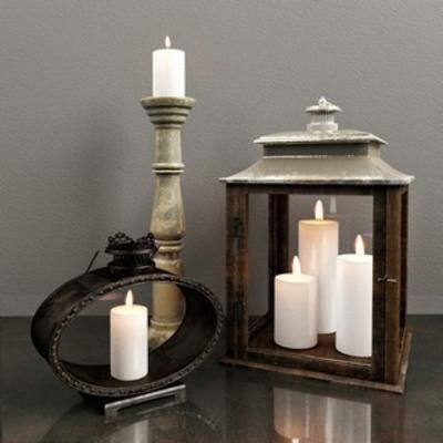 陈设品组合, 蜡烛摆件, 中式摆设品组合, 下得乐3888套模型合辑