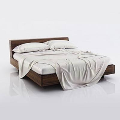 现代简约双人床, 舒适, 现代简约