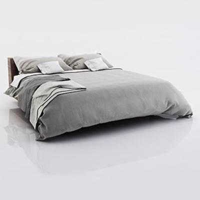 北欧简约双人床, 舒适, 北欧简约