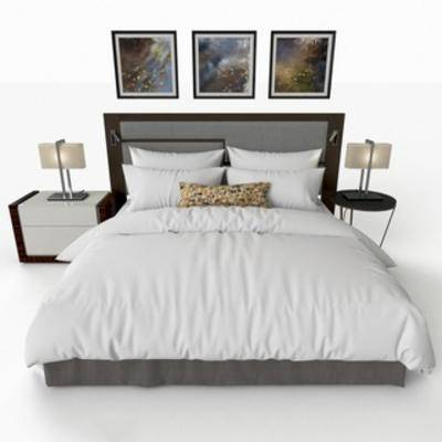 床具组合, 双人床, 后现代, 简约