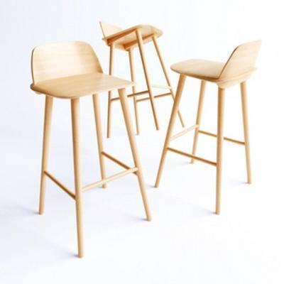 国外模型, 吧凳, 北欧, 吧椅, 简约