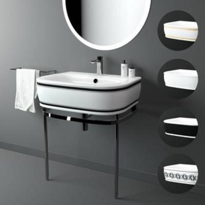 国外模型, 洗手台, 后现代, 简约