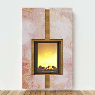 现代简约壁炉