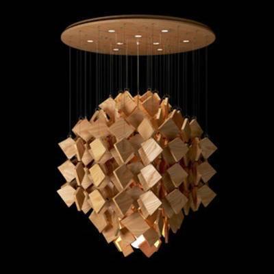 木艺, 现代简约, 现代吊灯, 吊灯