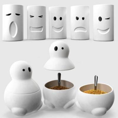 国外模型, 调料盒, 杯子, 现代, 白色