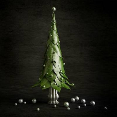 国外模型, 圣诞树, 装饰, 植物