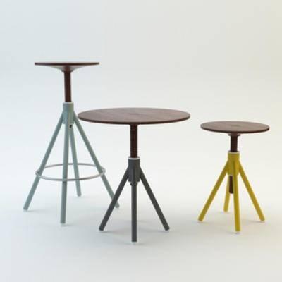 国外模型, 北欧, 凳子, 简约