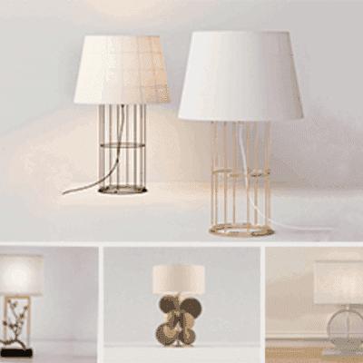 模型合集, 简约风格, 合集, 创意, 台灯, 灯饰, 现代