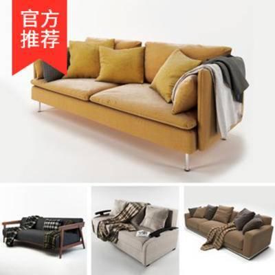 模型合集, 简约多人沙发, 布艺多人沙发, 北欧多人沙发, 北欧简约, 北欧沙发, 多人沙发