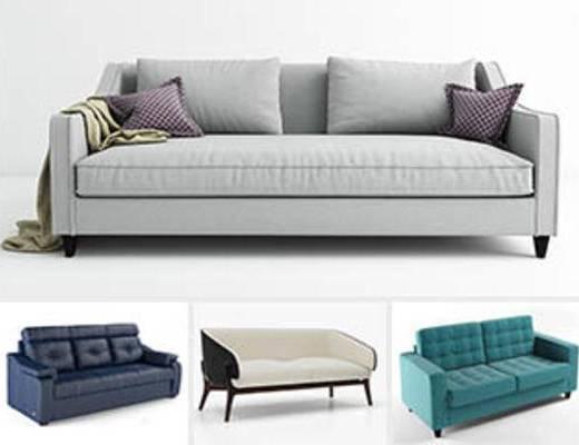 模型合集, 合集, 现代简约, 多人沙发, 现代沙发