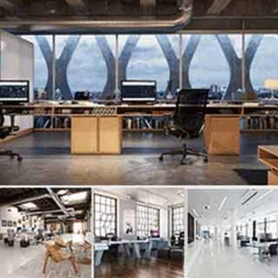 桌椅组合, 办公室, 电脑, 模型合集, 现代