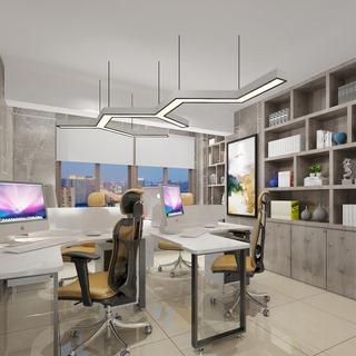 桌椅组合,现代简约,置物架,办公室,陈设品组合