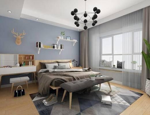 北欧卧室, 卧室