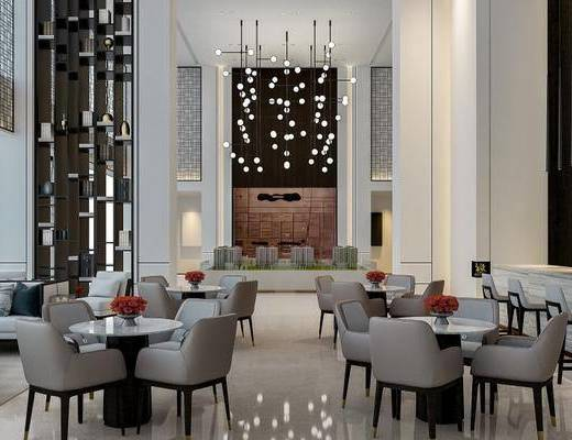 现代, 洽谈区, 会客区, 桌椅组合