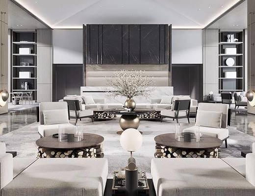 現代, 酒店, 會客區, 洽談區, 沙發組合