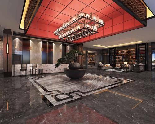中式, 大堂, 酒店