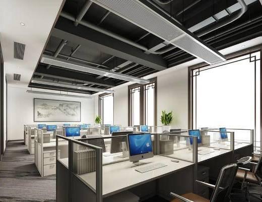 辦公室, 現代辦公室, 辦公區, 辦公桌, 桌椅組合