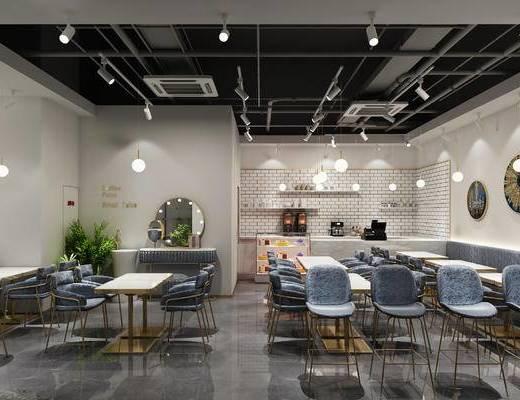 现代, 桌椅组合, 餐厅