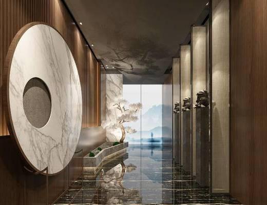 新中式, 酒店, 走廊過道