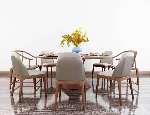 中式餐桌, 餐桌, 餐桌椅