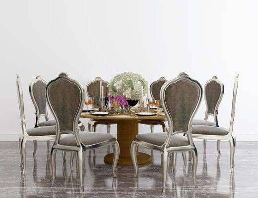 美式餐桌, 餐桌, 餐桌椅