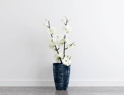现代花瓶, 花瓶, 摆件, 盆栽
