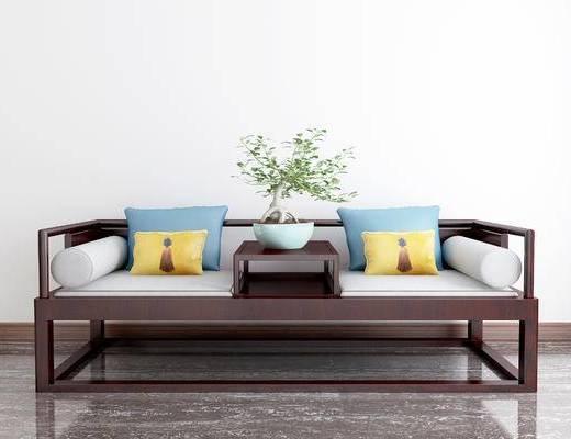 新中式沙发, 双人沙发, 沙发
