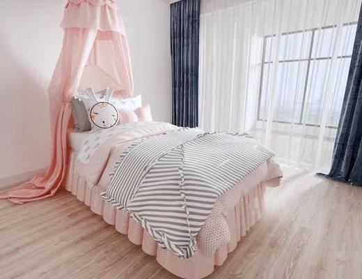 北歐兒童床, 兒童床, 單人床