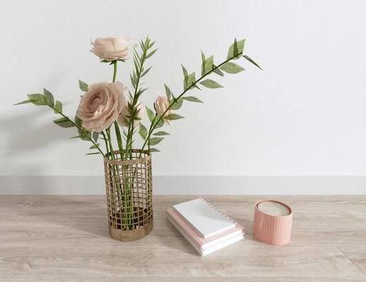 北欧摆件, 摆件, 摆件组合, 花瓶花卉