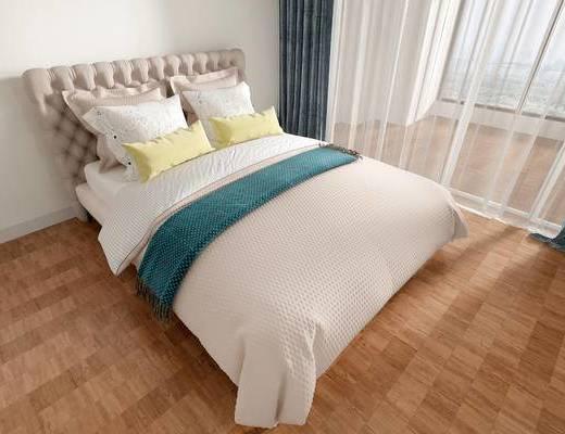 北欧双人床, 双人床