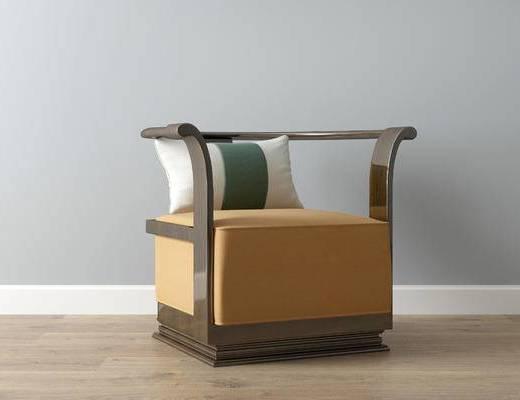 中式单人沙发, 单人沙发