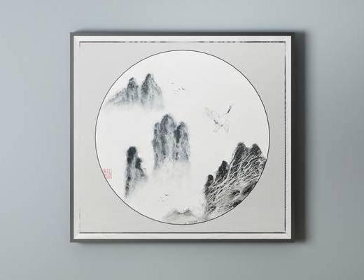 中式挂画, 挂画, 装饰画
