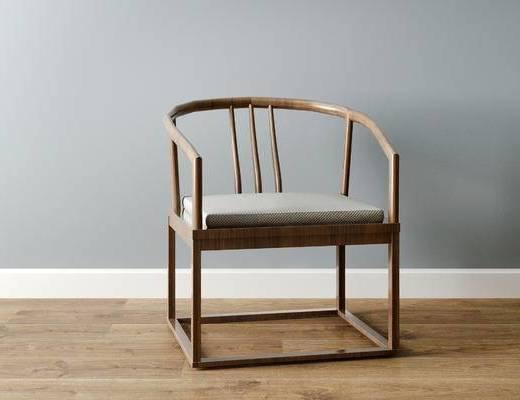 中式椅子, 椅子, 单椅