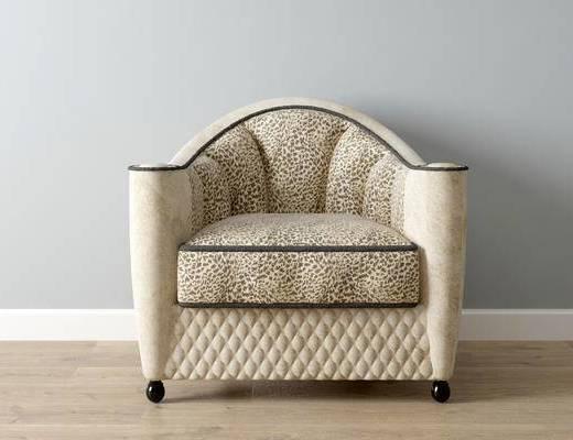 美式沙发, 单人沙发, 沙发