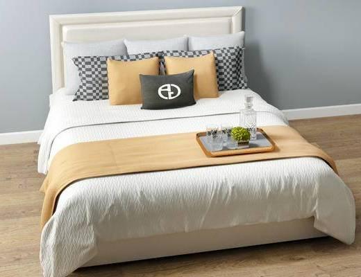 新中式双人床, 双人床