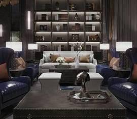 IDEAL艾迪尔900㎡成都皇冠湖壹号销售体验中心_3d模型