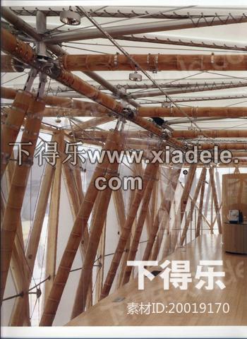 这座创新性双层竹子及膜结构建筑呈现了以