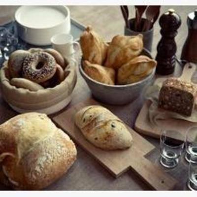 食物, 现代, 美式, 面包, 甜甜圈, 粘板