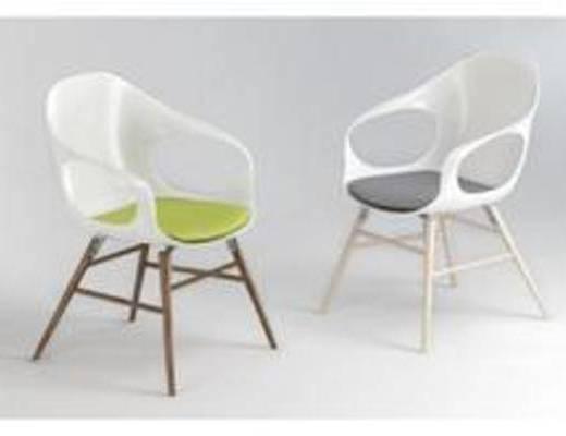 椅子3D模型, 简约椅子, 现代椅子, 椅子