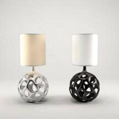 台灯灯具, 台灯模型, 模型, 现代
