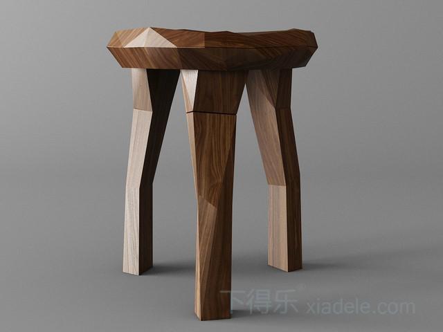 创意原木木块拼合凳