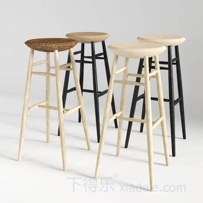柳钉凳子, 棉麻凳子, 单人凳子, 木凳子, 现代创意凳子, 吧椅
