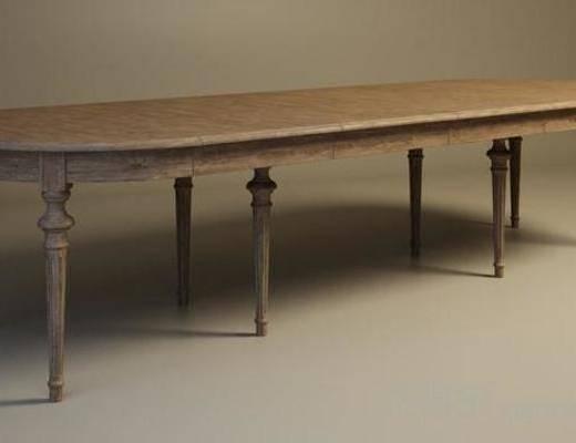 美式古典, 美式餐桌, 餐桌, 长餐桌