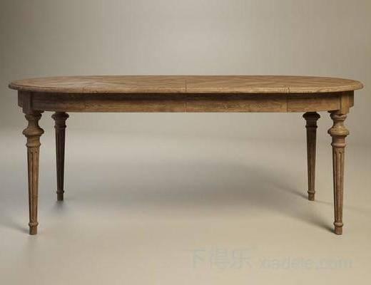 美式餐桌, 古典餐桌, 美式古典, 长餐桌, 餐桌, 桌子
