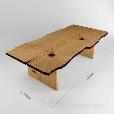 现代简约, 原木餐桌, 现代餐桌, 桌子, 现代桌子