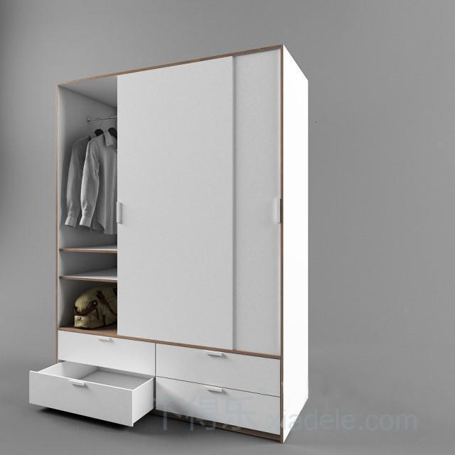 衣柜手绘图 单体图片